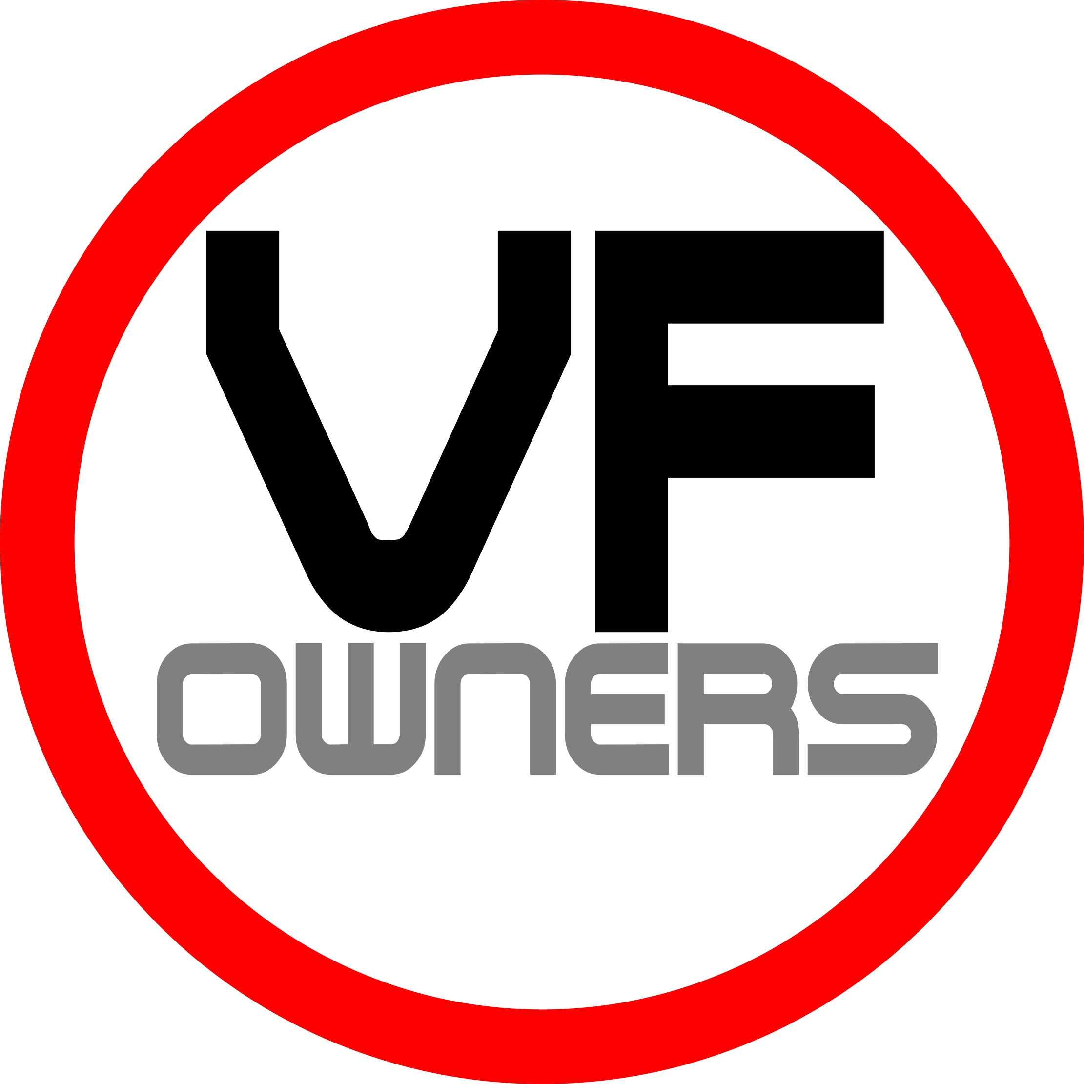 VF1000 Owners Sticker
